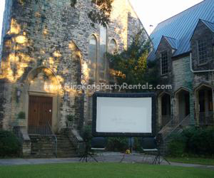 outdoor cinema rentals, houston, tx - kingkongpartyrentals.com