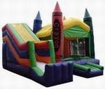 4 in 1 crayon moonwalk rental, houston, tx - kingkongpartyrentals.com