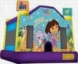dora the explorer moonwalk rental, houston, tx - kingkongpartyrentals.com