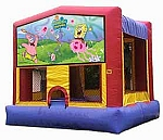spongebob squarepants moonwalk rental, houston, tx - kingkongpartyrentals.com