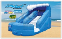 Toddler Little Surf waterslide with pool rental, houston, tx - kingkongpartyrentals.com