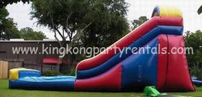 16ft waterslide with pool rental, houston, tx - kingkongpartyrentals.com