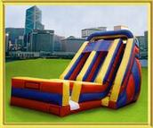 25ft double lane accelerator slide rental, houston, tx - kingkongpartyrentals.com