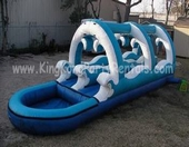 30ft wild waves dual lane slip n slide rental, houston, tx - kingkongpartyrentals.com
