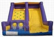 inflatable rockwall and slide rental, houston, tx - kingkongpartyrentals.com