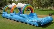 rainbow slip n slide rental, houston, tx - kingkongpartyrentals.com